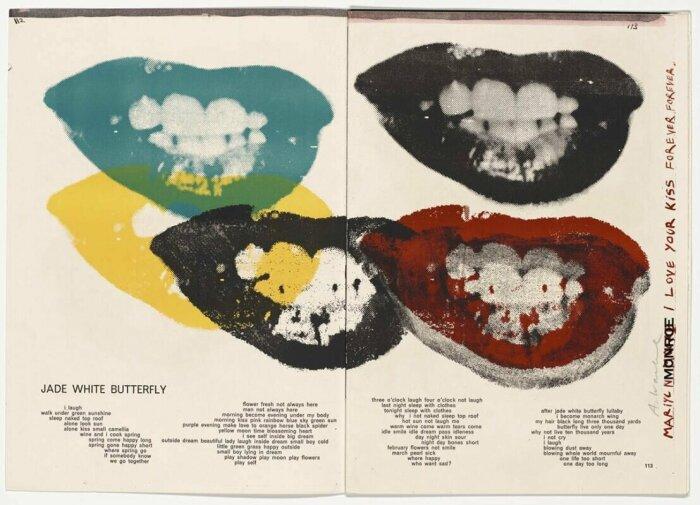 Мэрилин Монро (Я люблю твои губы), Энди Уорхол, 1964 год. \ Фото: onlineonly.christies.com.