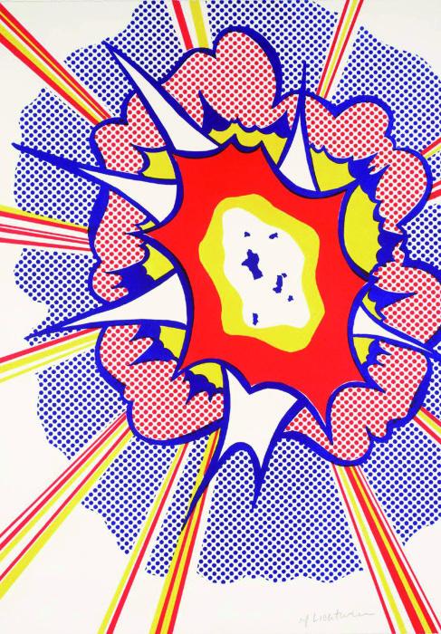 Взрыв, Рой Лихтенштейн, 1965-66 гг. \ Фото: wordpress.com.