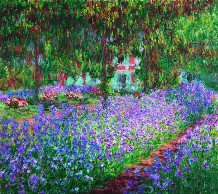 Сад художника в Живерни, Клод Моне, 1900 год. \ Фото: wordpress.com.