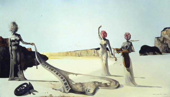 Три молодые сюрреалистические женщины, Сальвадор Дали, 1936 год. \ Фото: google.com.