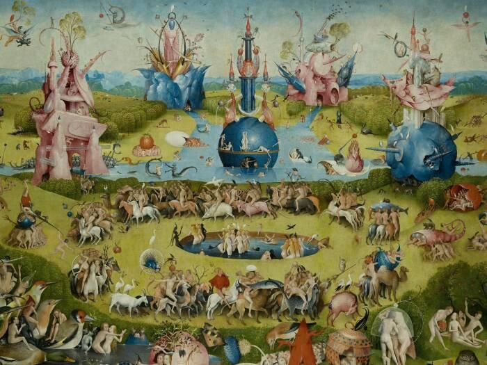 Фрагмент: Сад земных наслаждений, Иероним Босх, 1490-1500 гг. \ Фото: wired.co.uk.