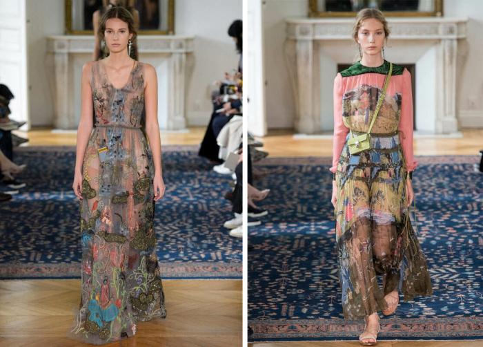 Слева направо: Модели на подиуме на показе мод Valentino Весна Лето 2017 год. \ Во время Недели моды в Париже, 2016 год. \ Фото: google.com.