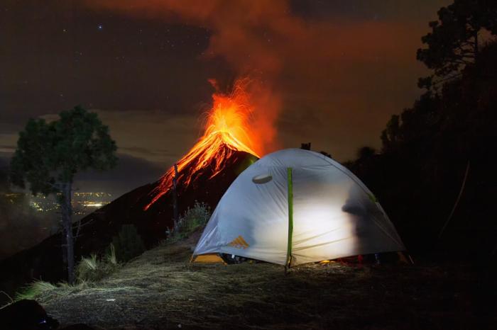 Вулкан Фуэго, Антигуа, Гватемала. Автор фото: Маттиас Хубер.