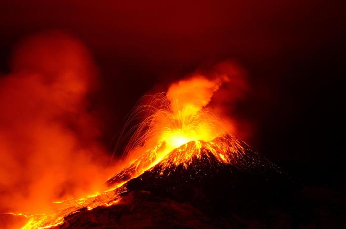 Извержение Этны. Автор фото: Джанлука Радано.