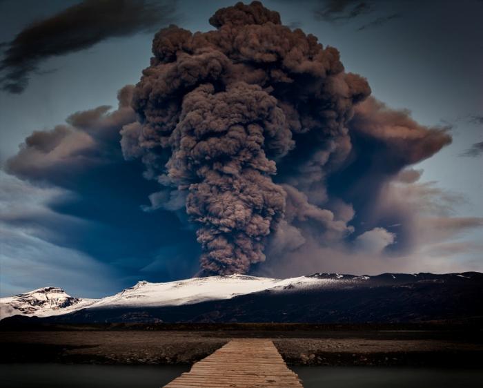 Извержение. Автор фото: Тони Прауэр.