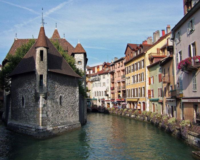 Город Анси. Франция.