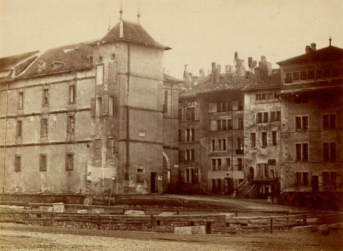 Склады Женевского порта, около 1850 года. \ Фото: bge-geneve.ch.