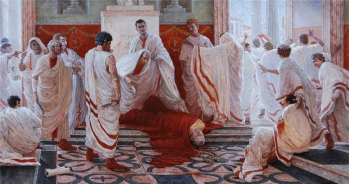 Убийство Цезаря. \ Фото: historiosophy.ru.