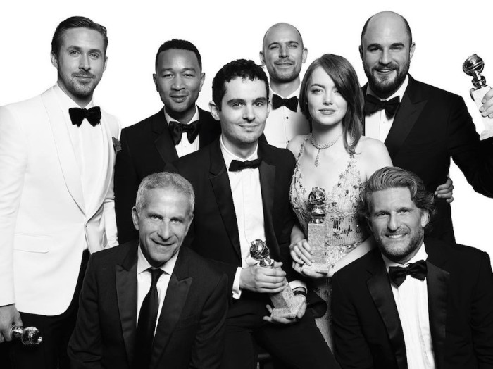 Команда «La La Land». Номинация «Лучший фильм, комедия, мюзикл». Авторы: Mert Alas и Marcus Piggott.