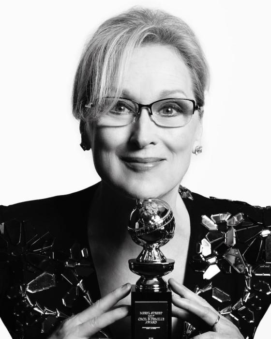 Мэрил Стрип получила премию Сесила Б. ДеМилля. Авторы: Mert Alas и Marcus Piggott.