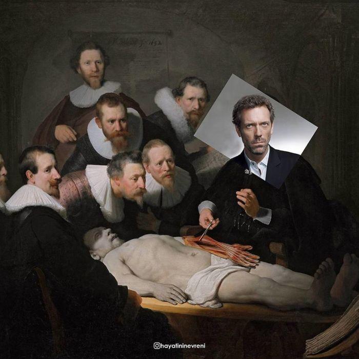 Художник перенёс персонажей известных картин в иную реальность
