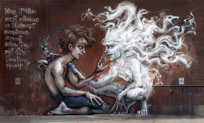 Духи среди нас. Автор: Herakut.