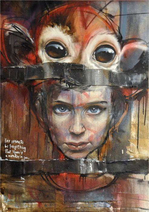 Глаза ребёнка. Автор: Herakut.