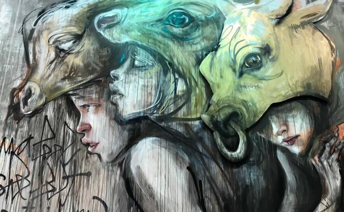 Дуэт художников создаёт мрачноватые граффити о насущных проблемах человечества