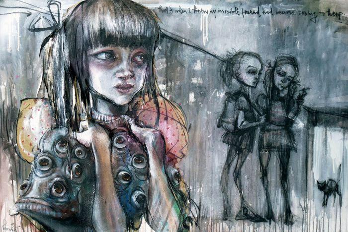 Детская жестокость. Автор: Herakut.