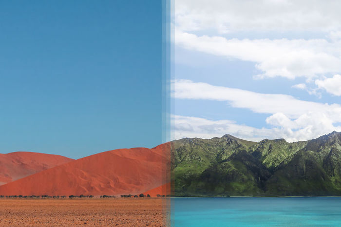 Соссусфлей, Намибия и Отаго, Новая Зеландия.