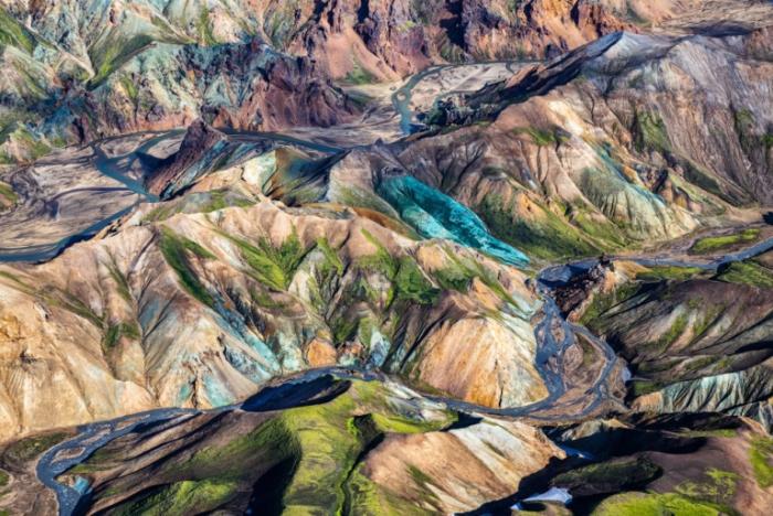 Цветные горы. Исландия.