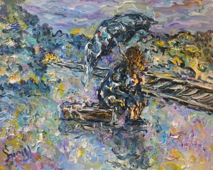 Дождь - замечательная картина от Кирилла Суханова.