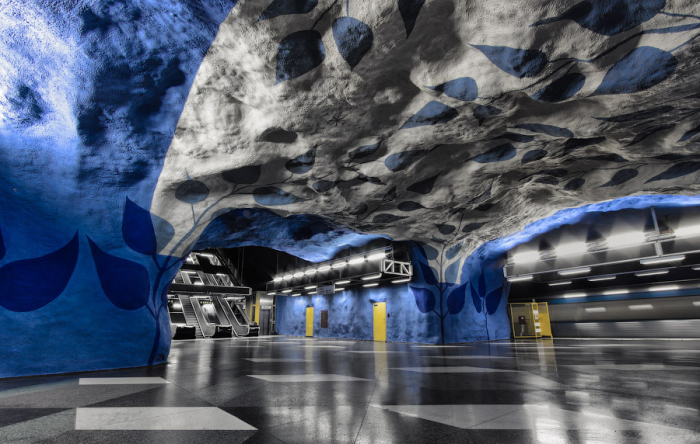 Стокгольм, Швеция. Станция метро - Т-Централен.