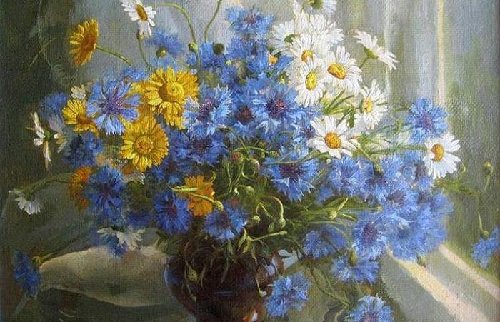 Букет полевых цветов. Автор: Екатерина Калиновская.