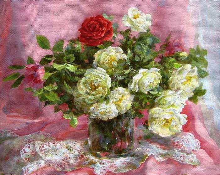 Розы. Автор: Екатерина Калиновская.