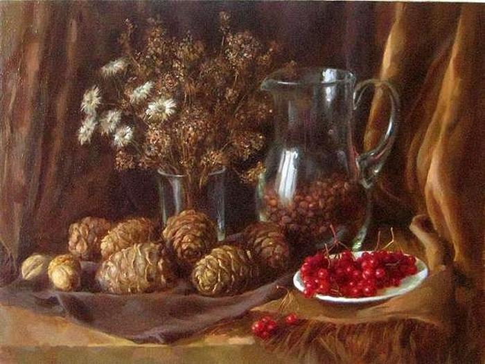 Осенний натюрморт. Автор: Екатерина Калиновская.
