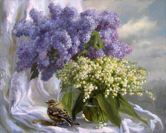 Ароматная сирень. Автор: Екатерина Калиновская.