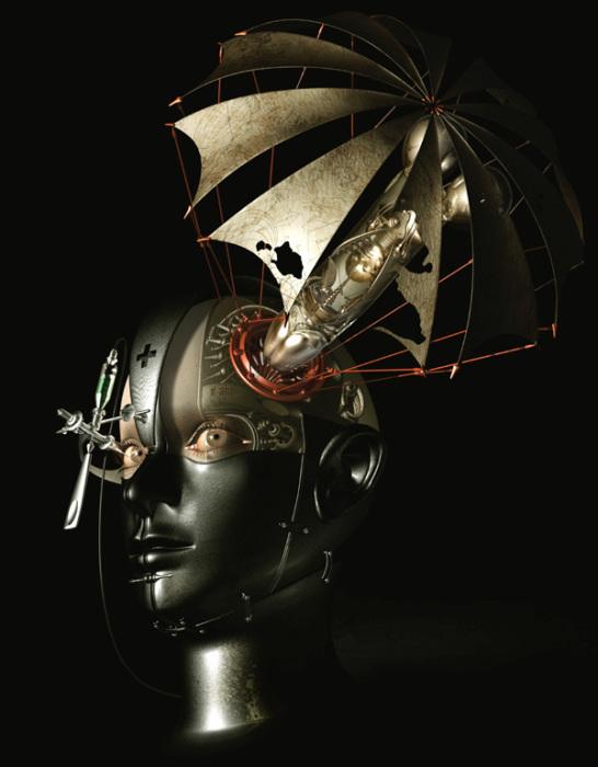 Из серии «Механический мираж».  Автор работ: Казухико Накамура (Kazuhiko Nakamura).