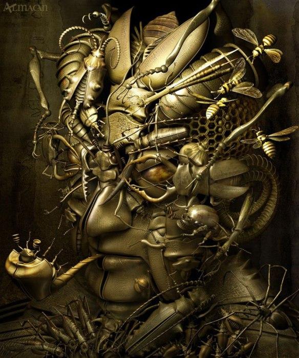 Великолепные работы из серии «Механический мираж».  Автор работ: Казухико Накамура (Kazuhiko Nakamura).
