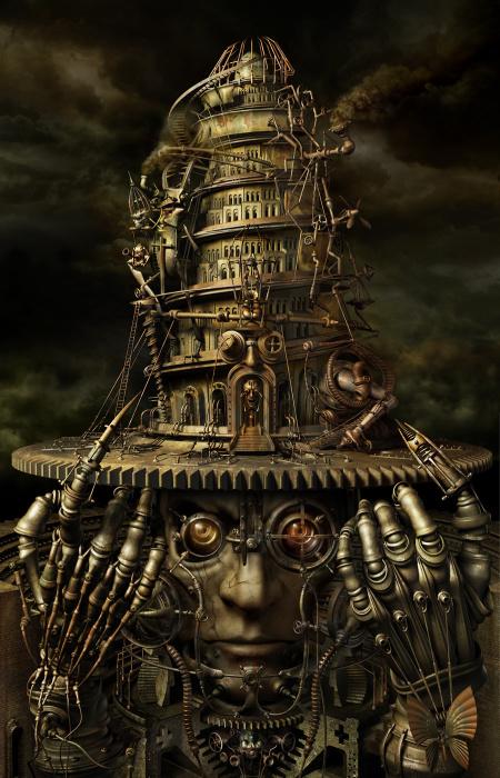 Башня разума (Brain Tower). «Механический мираж».  Автор работ: Казухико Накамура (Kazuhiko Nakamura).