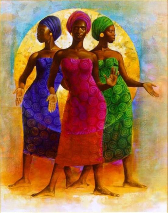 Африканские женщины. Художник: Кит Дункан Малетт (Keith Duncan Mallett).
