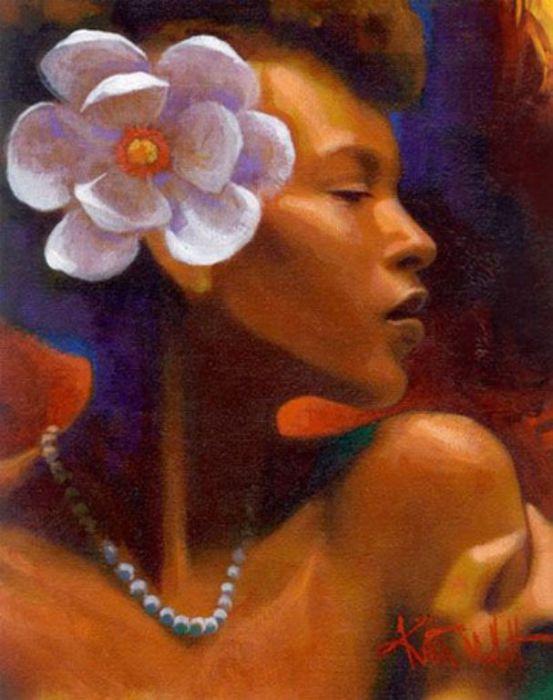Африканская женщина. Художник: Кит Дункан Малетт (Keith Duncan Mallett).