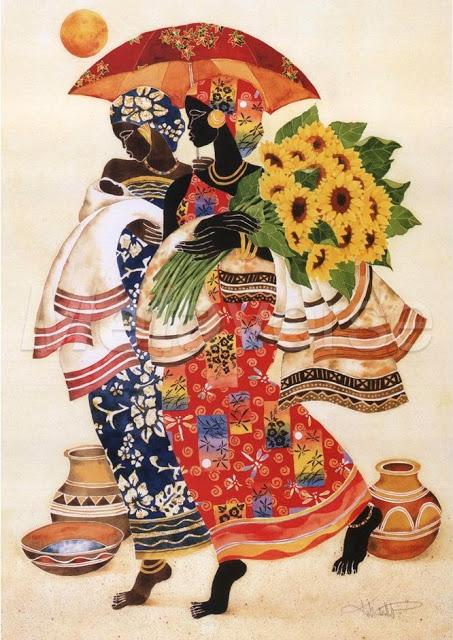 Африканские мотивы в работах совремённого художника Кита Дункана Малетт (Keith Duncan Mallett).