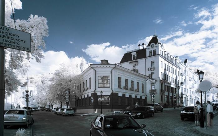Исторические здания в Киеве.
