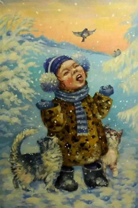 Снежинки. Автор: Кира Панина.