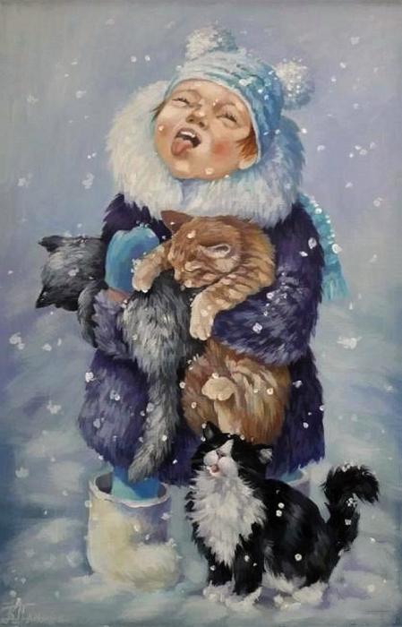 Скорее! Пора ловить снежинки ртом! Автор: Кира Панина.