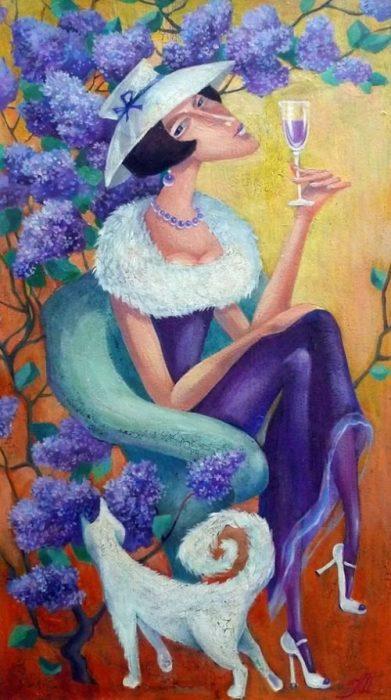 Бокал благородного напитка. Автор: Кира Панина.