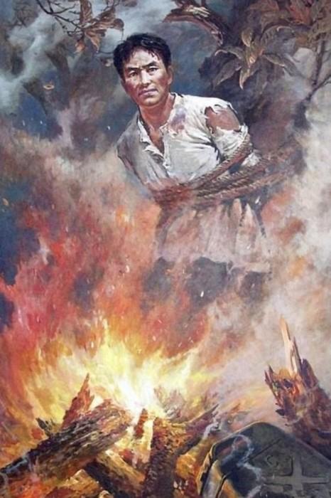 Американцы сжигают патриота.