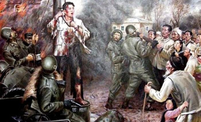 Американцы казнят корейского патриота на глазах у родных.