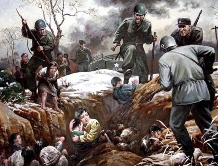 И вновь картина, посвящённая массовой бойне в Синчхоне.