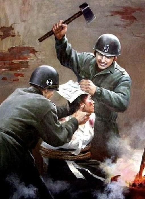 Именно они, а не солдаты Южной Кореи, пытают патриотов, жгут их раскалённым железом и вбивают в головы гвозди.
