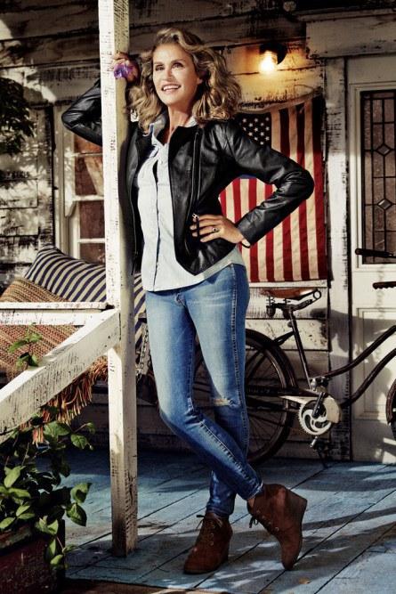 Лорен Хаттон (Lauren Hutton). Возраст: 69 лет. Компания: Lucky Brand's.