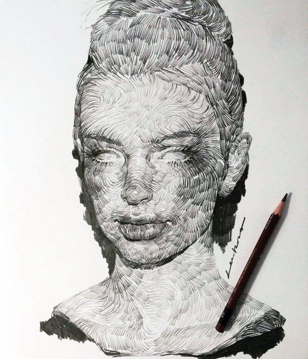 Портрет девушки. Автор: lee.k.