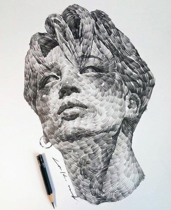 Монохромные работы, созданные сеульским художником lee.k.