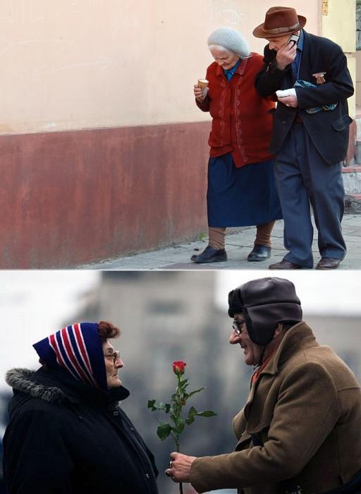 С возрастом мужчина не становится менее беззащитным перед милым женским личиком.