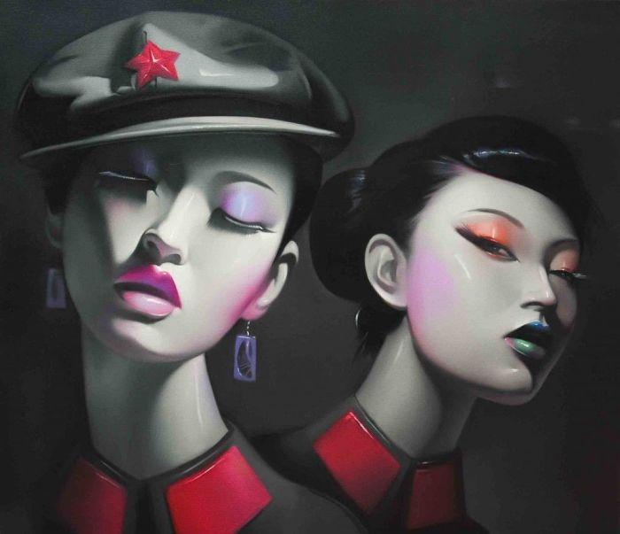 Штрихи оттенками. Автор: Lv Yanjun.