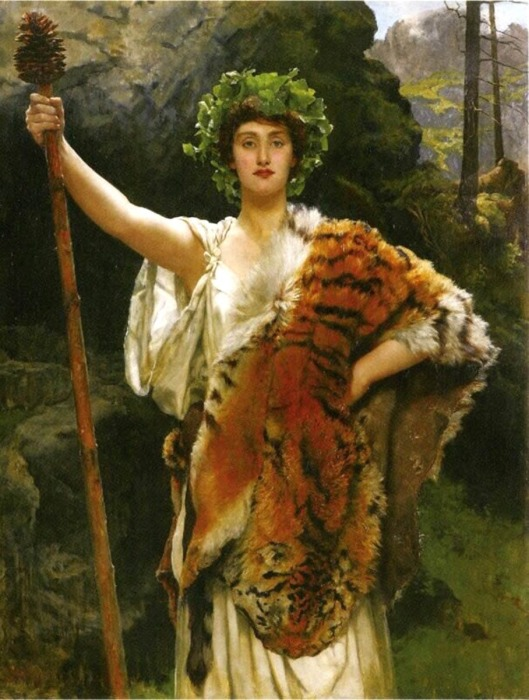 Жрица Вакха, Джон Кольер, XIX век. \ Фото: pinterest.com.