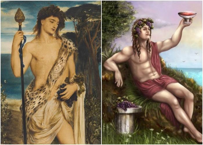Слева направо: Бахус, Симеон Соломон. \ Дионис.