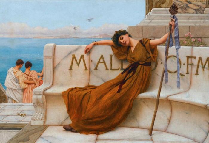Жрица Вакха, Джон Уильям Годвард, 1890 год. \ Фото: getdailyart.com.