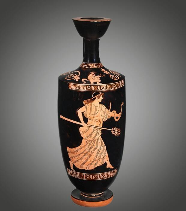 Терракотовый лекитос (масляная колба), приписывается Гермонаксу, около 460 г. до н.э. \ Фото: metmuseum.org.